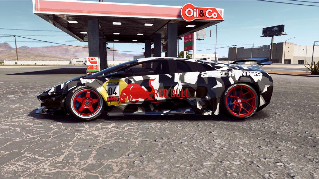 Red Bull Lamborghini Murcilago Sv Side By Mrnobody1286 On Deviantart