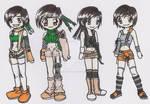 Yuffie through all FF7s by SuzumiSakuma