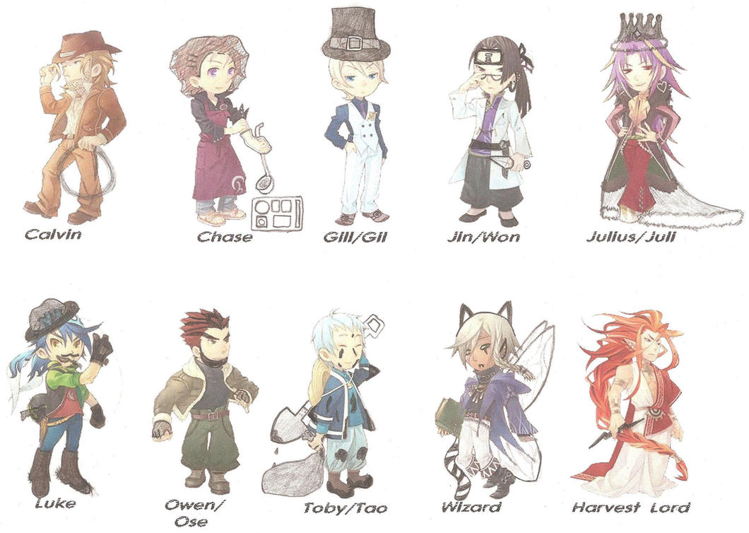 Defacing The Men of Harvest Moon Animal Parade XD by ...