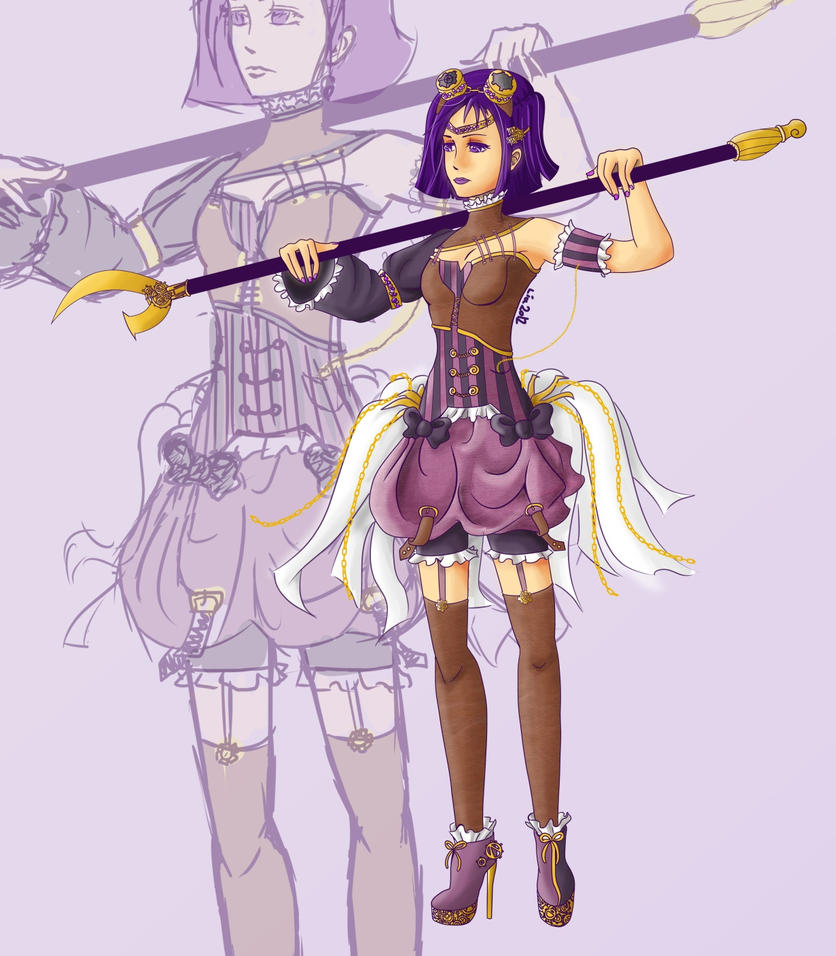 Sailor Saturn Steampunk by Liaelin