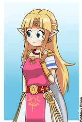Princess Zelda Super smash bros ultimate by Patdarux