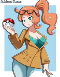 Pokemon Sword and Shield Sonia by Patdarux