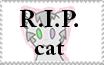 R.I.P. Cat Stamp by Luri-cat