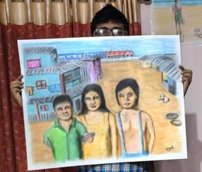 slum kids by unnibabu