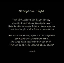 Sleepless night by unnibabu