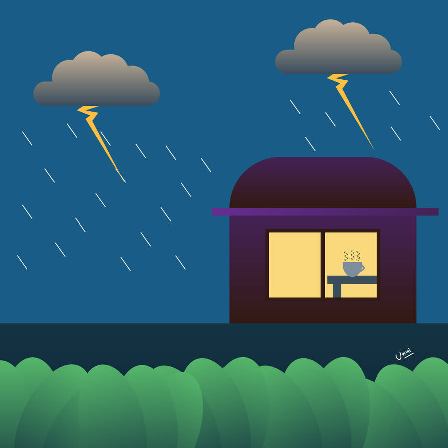 Rainy day by unnibabu