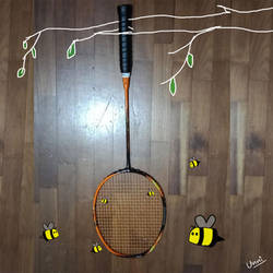 Bee and badminton