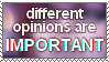 Opinions Stamp by FlNS
