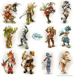 Wakfu Characters by xa-xa-xa