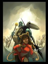 'le Corbeau Noir' Comic cover by xa-xa-xa