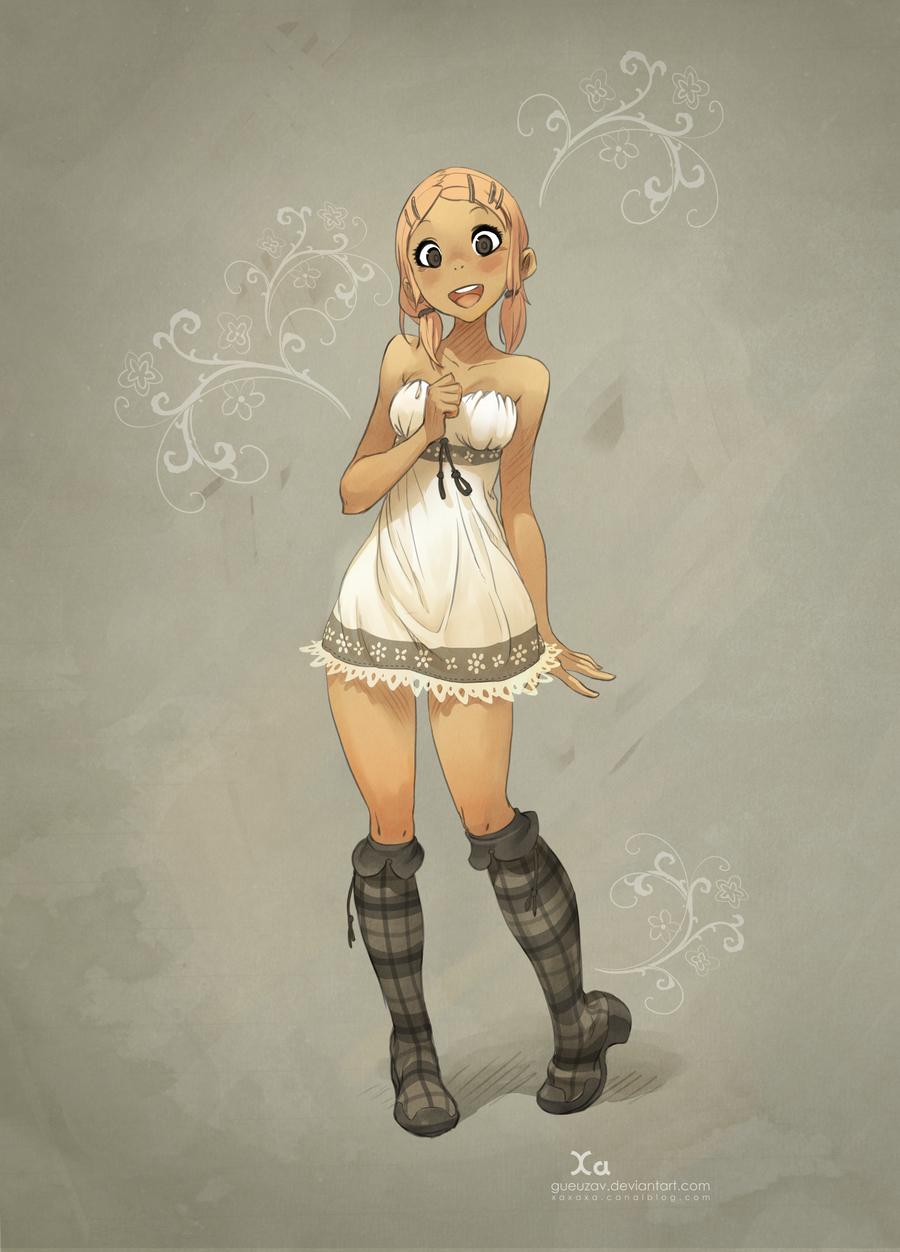 Vintage Girl by xa-xa-xa