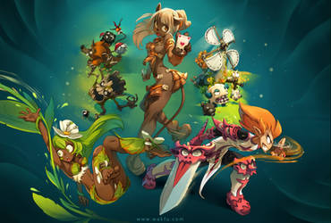 Wakfu Website Illustration by xa-xa-xa