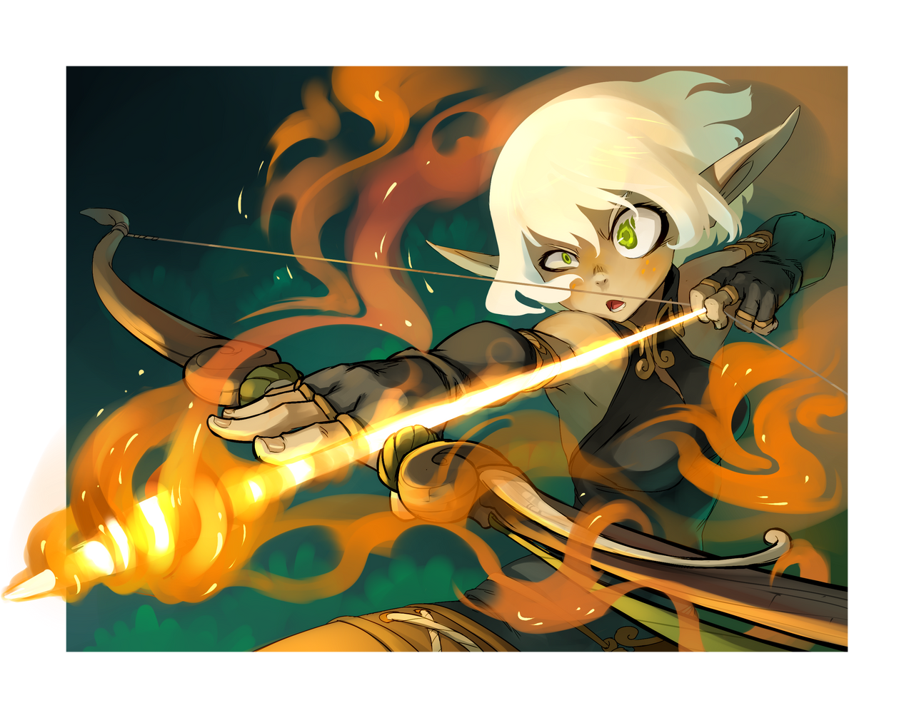 Evangelyne for WAKFU TCG card by xa-xa-xa