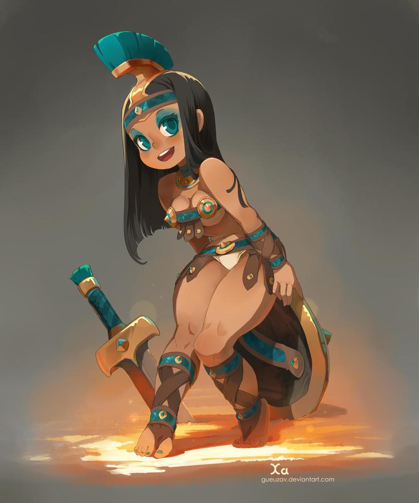 Gladiatrice by xa-xa-xa