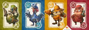 Touche-Poulet Characters by xa-xa-xa