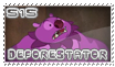 515 Deforestator stamp by OxAmy