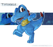 -Totodile- by OxAmy