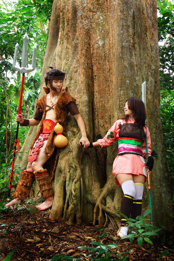 Toshiie and Matsu by hiyuki