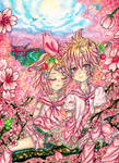 Sakura Kagamine Twins by WizardKitMagic