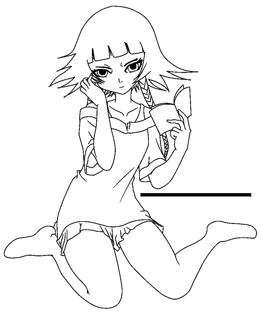 Soifon - Lineart by xenneon