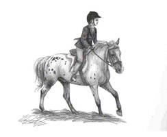 Cantering Horse by WoodstockLover8