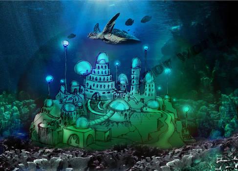 blue castle design 1 by z.r.p