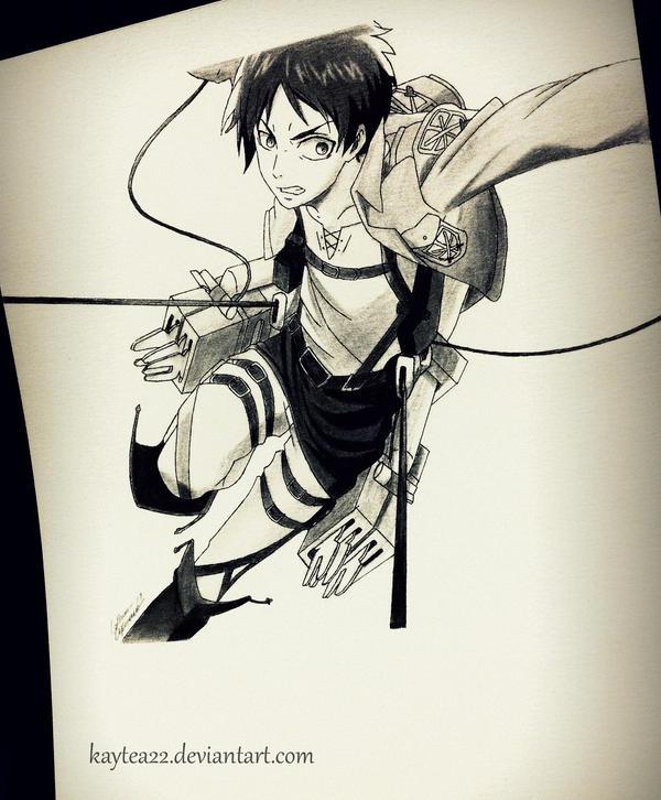 Eren to the rescue by kaytea22