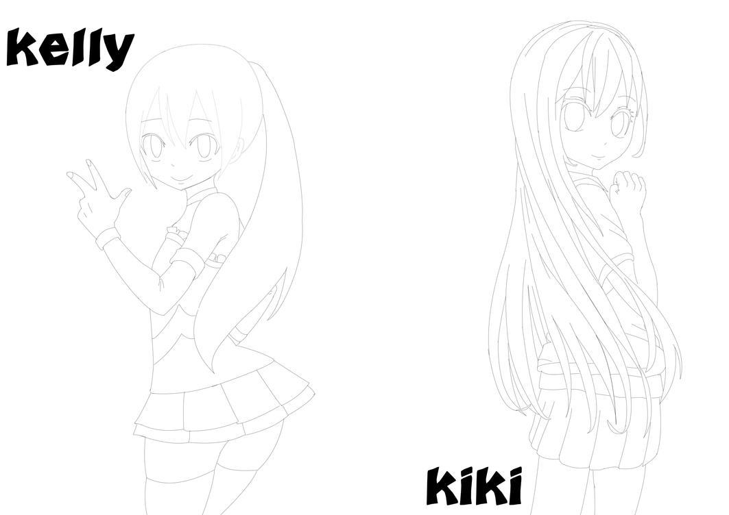 Line Art Studio Karawaci : Kiki and kelly line art by networkstudios on deviantart