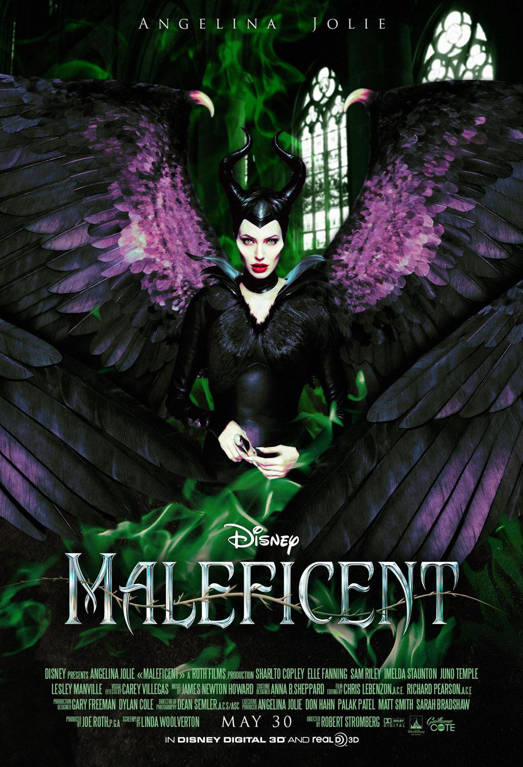 maleficent poster final by graphuss on deviantart