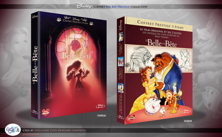 La Belle et la Bete - Coffret blu ray by Graphuss