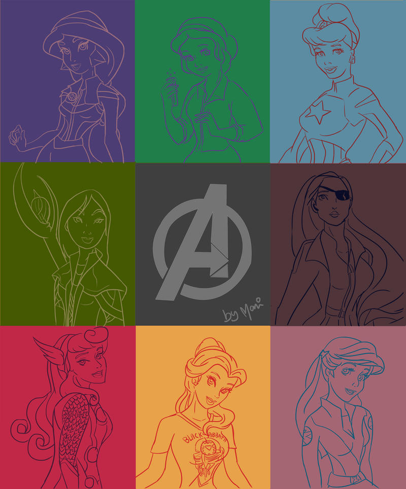 Princess Assemble by marigusmao