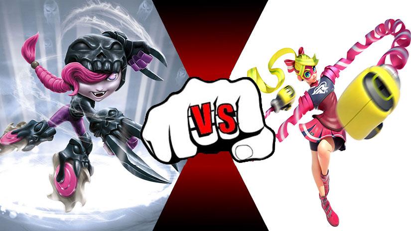 Roller Brawl (Skylanders) VS Ribbon Girl (Arms) by rockeyrolley