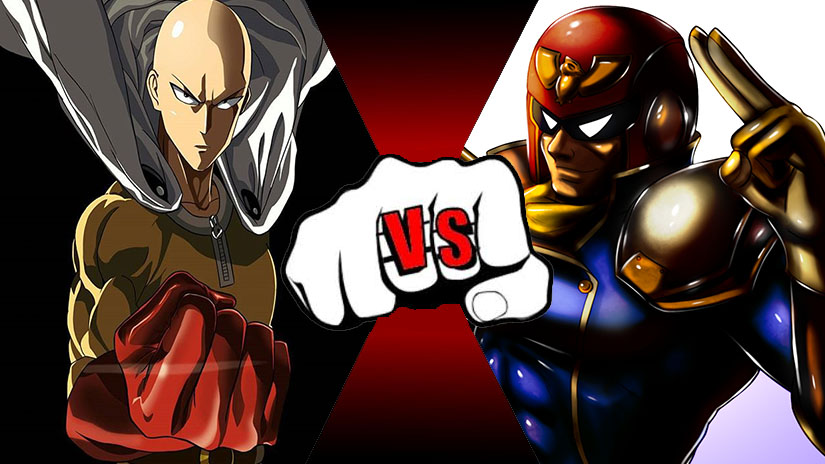 One Punch Man VS Captain Falcon! by rockeyrolley