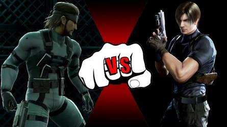 Solid Snake VS Leon Kennedy! by rockeyrolley
