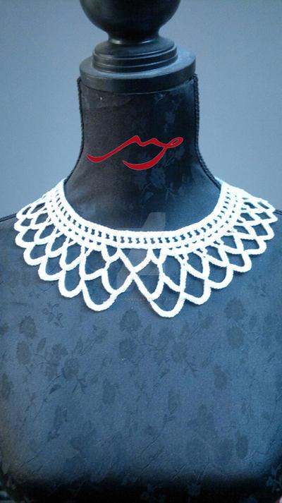 Peterpan collar crochet necklace (Col Claudine)