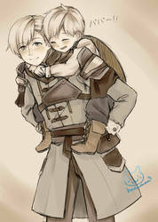 Ashe and his son