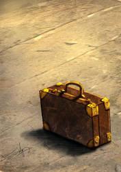 First Digital Painting - Briefcase by kaizhi3006