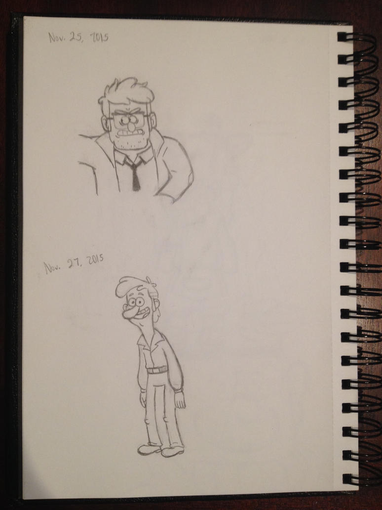 Young Ford and McGucket sketch by AndThenThereWasFun