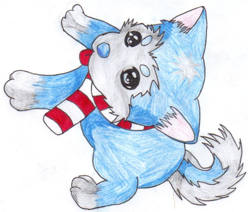 Anime Husky Puppy Chibi husky puppy by hollow-