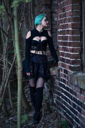 Blue Hair Gothic Girl I by blinkfreak182