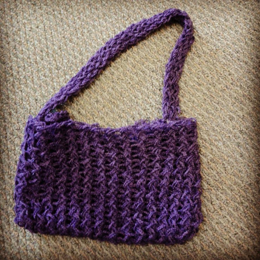 Knitting Pattern Lavender Bag : Purple Knit Hobo Bag by xAllStitchedUpx on DeviantArt