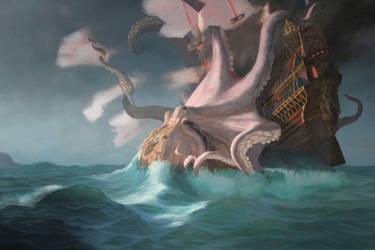 Kraken, work in progress by RussellMarks