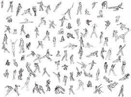100 Poses by SamusFairchild
