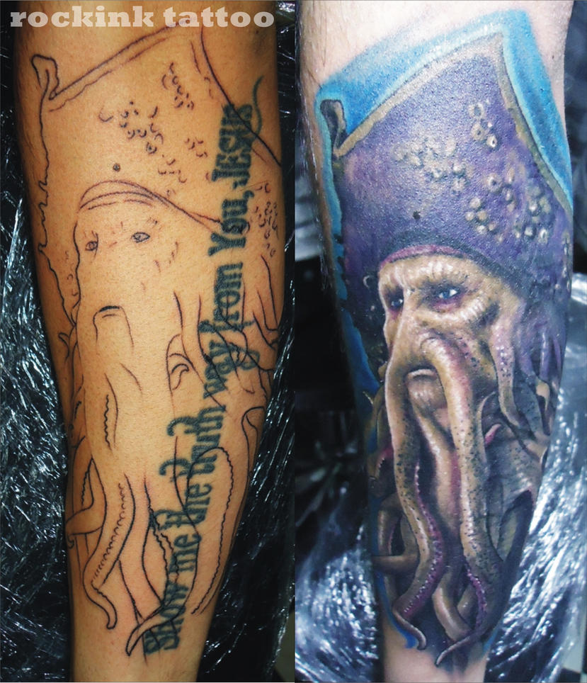 davy jones tattoo process by ferry rockink on deviantart. Black Bedroom Furniture Sets. Home Design Ideas