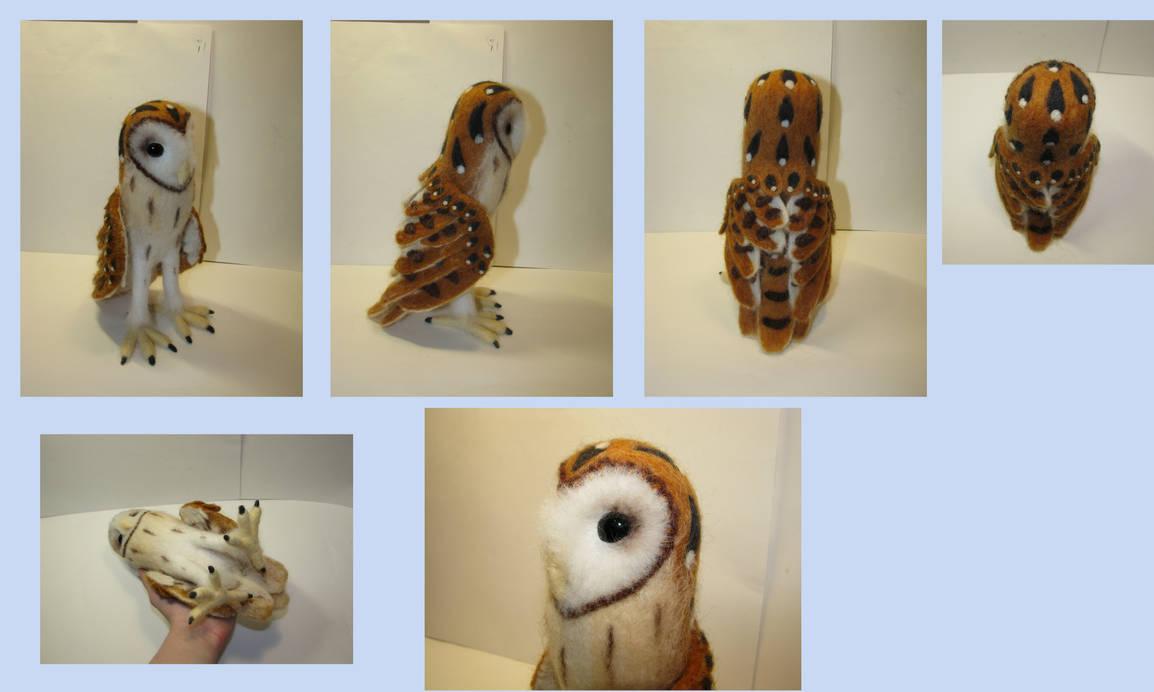 1:1,5 scale barn owl (needle-felted)