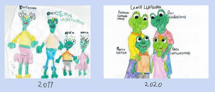 Frog family - draw this again