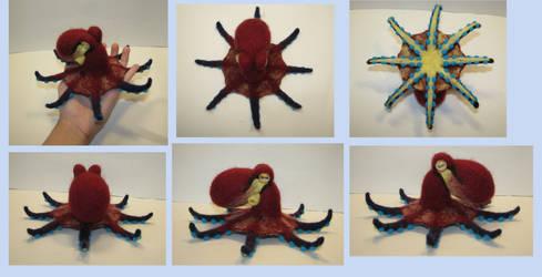 Lifesized coconut octopus (needle-felted)