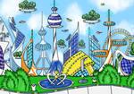 Future city (digital v.1) by MarinaPterus