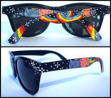 Nyan Cat sunglasses by Dupa-grzywa