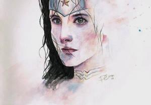 Wonder Woman watercolor